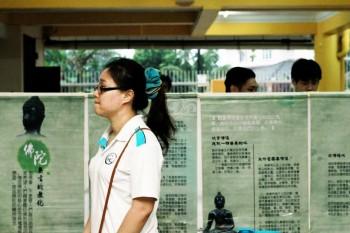 护法行当天举办的《佛陀无言的教化》展览